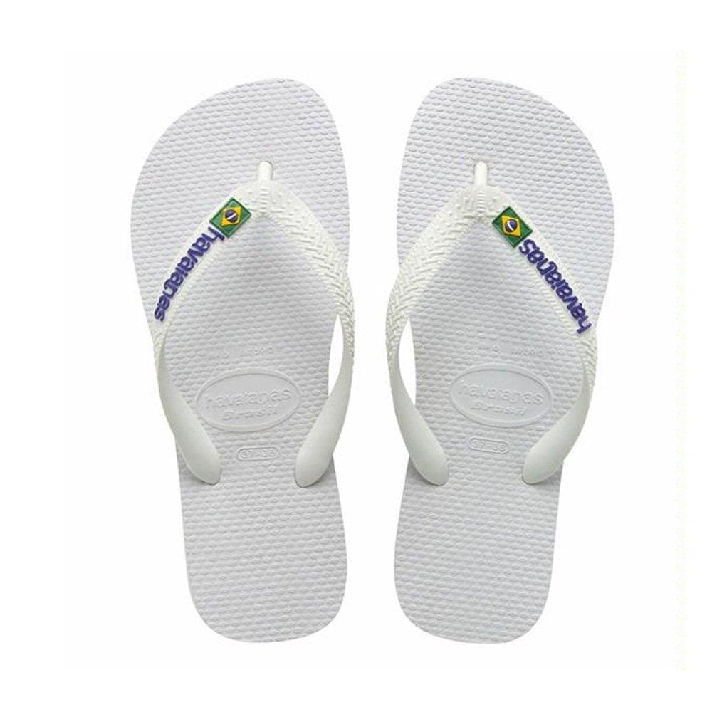 havaianas brasil logo white the original flip flop men from jelly egg uk. Black Bedroom Furniture Sets. Home Design Ideas