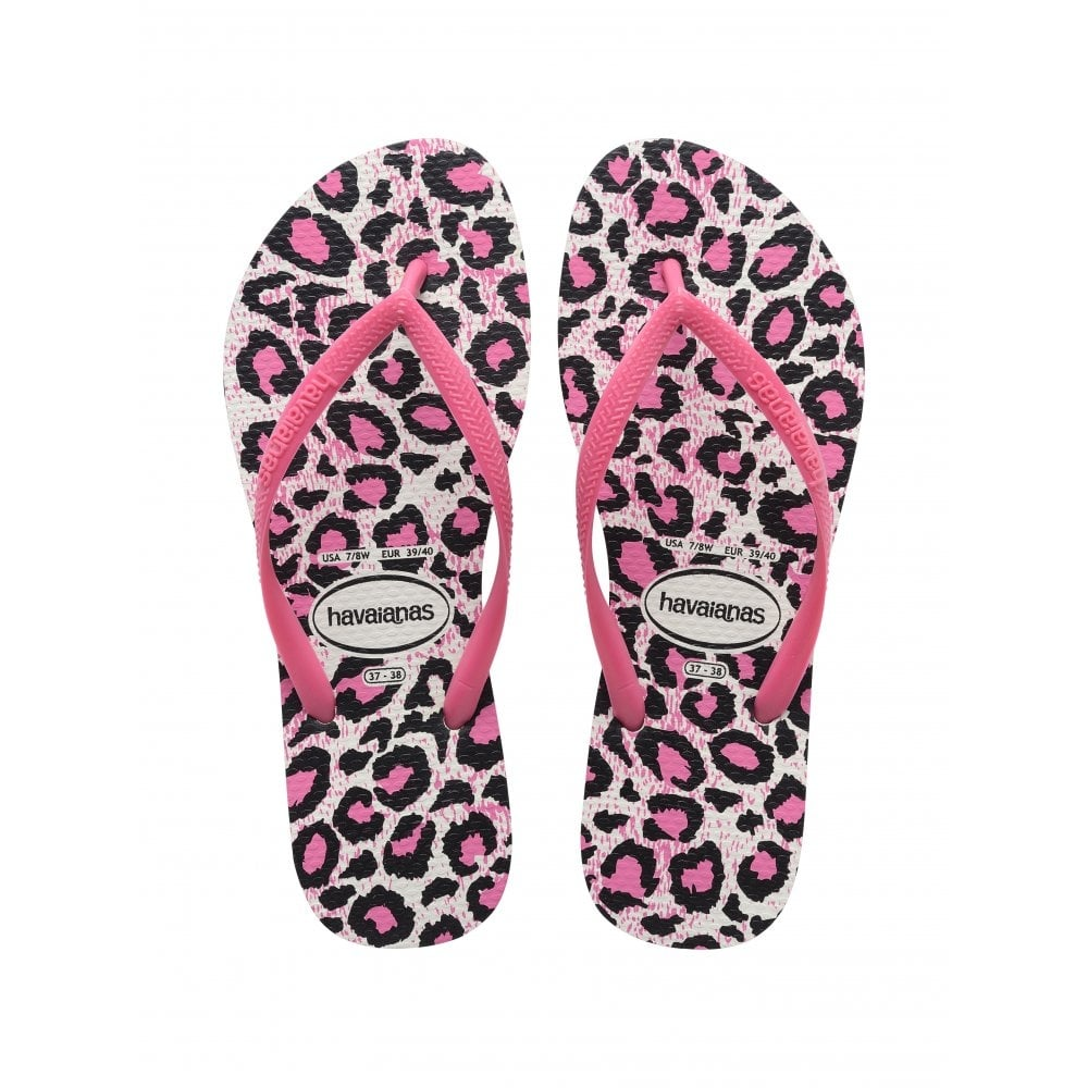 c50f62fb1d0d61 Havaianas Kids Slim Animals White Rose Slim fitting flip flop - Kids from  Jellyegg UK