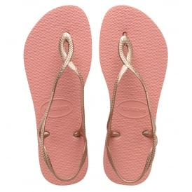 Havaianas Luna Light Rose, with back strap for extra security