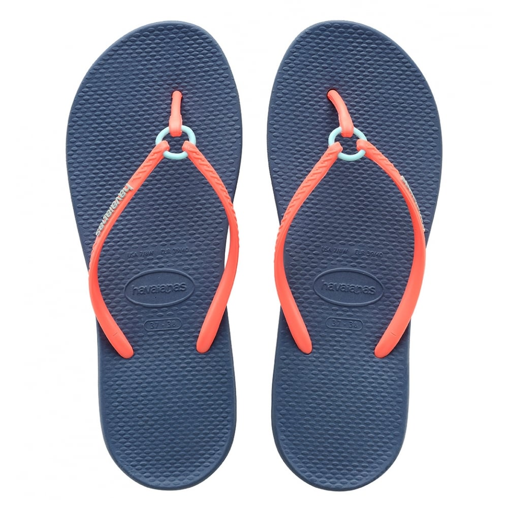 havaianas ring indigo blue the original flip flop with a touch a elegance women from jelly egg uk. Black Bedroom Furniture Sets. Home Design Ideas