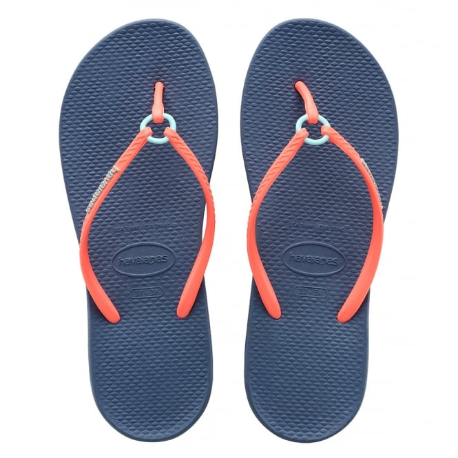 Havaianas Ring Indigo Blue, the original flip flop with a touch a elegance