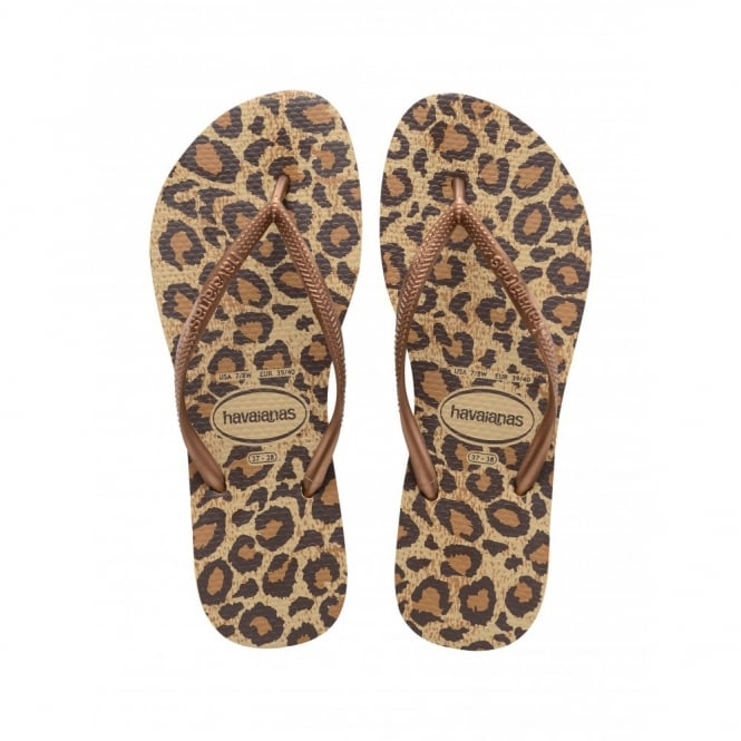 Havaianas Slim Animals Beige, Womens fit with fun animal print