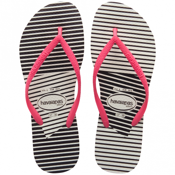 Havaianas Slim Graphic White/Pink, Slim ladies fit