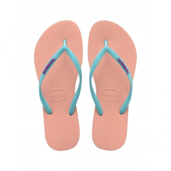 Havaianas Slim Logo Slim Light Pink, Womens fit
