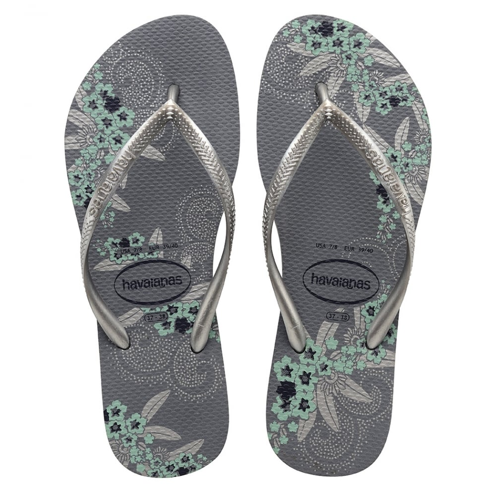 havaianas slim organic steel grey a colourful take on the original flip flop women from jelly. Black Bedroom Furniture Sets. Home Design Ideas