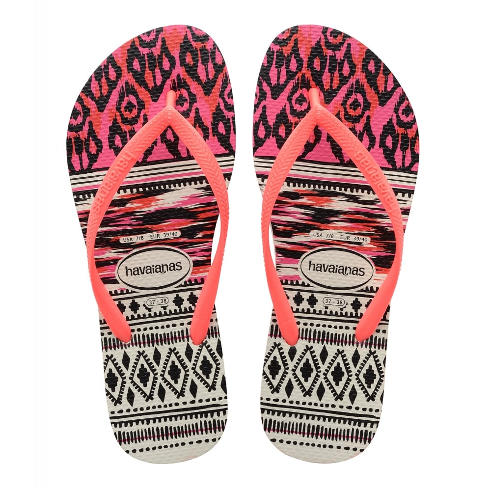 5dccf89ac Havaianas Slim Tribal White Coral - Women from Jellyegg UK