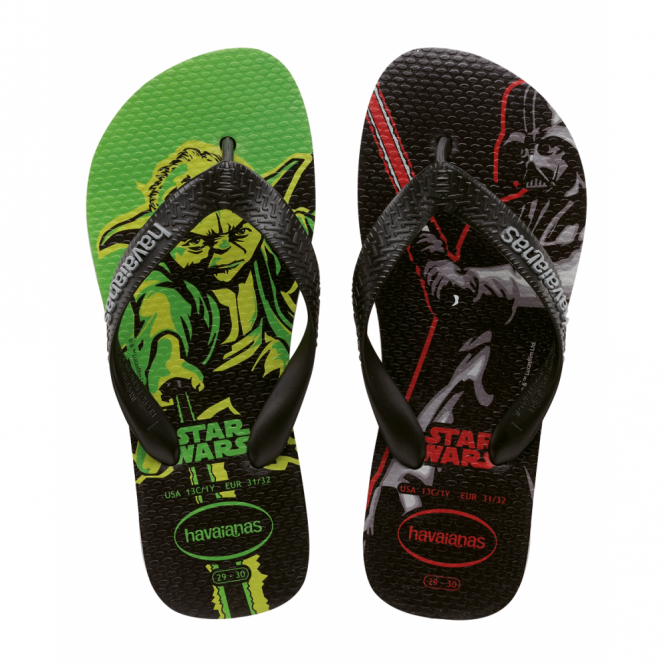 Havaianas Star Wars Grey/Black, feel the force with every step