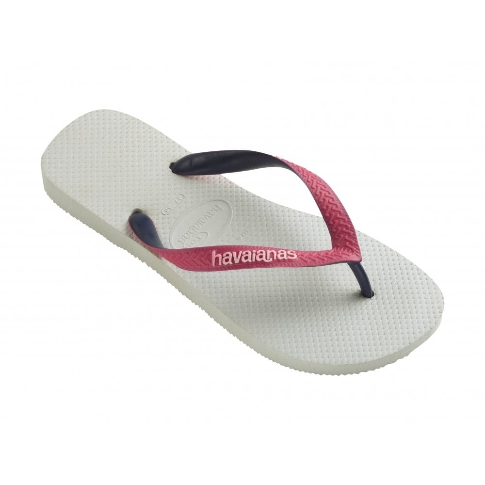 Havaianas Top Mix White/Pink, Two Tone Straps