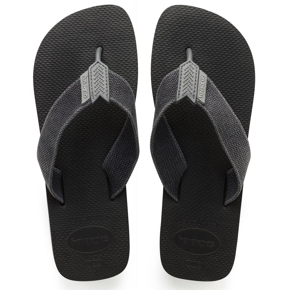 bd6daf7e2672 Urban Basic Black Grey fabric strap flip flop - Men from Jellyegg UK