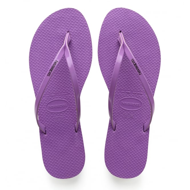 Havaianas You Metallic Purple, thin and elegant flip flop for women