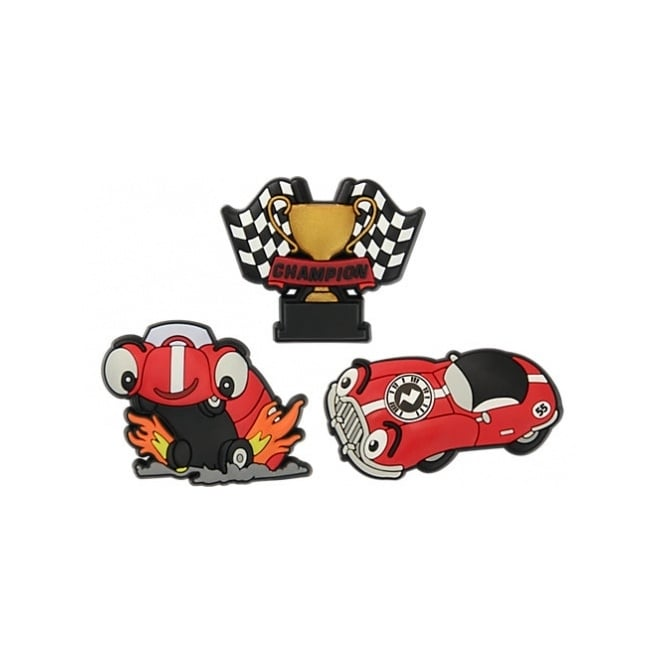 Jibbitz Zapper Race Car 3 Pack