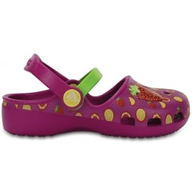 Karin Novelty Vibrant Violet/Tangerine, a prettier & more feminine take on a Crocs clog