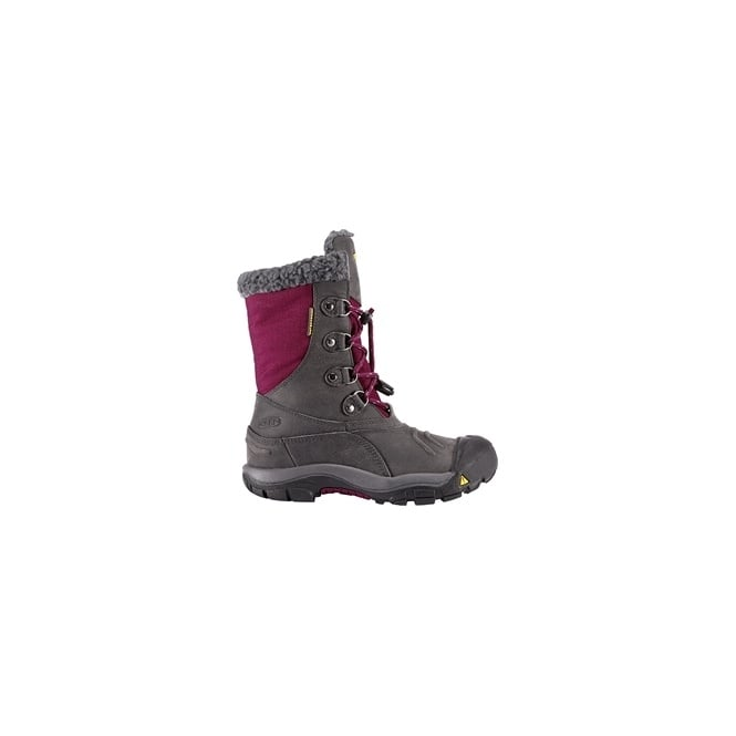 KEEN Kids Basin Magnet/Raspberry Radiance, Insulated, waterproof winter boot