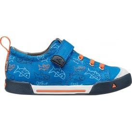 Kids Encanto Finley Blue Sharks, Mesh liner for cool fresh feet