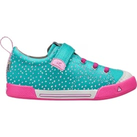 Kids Encanto Finley Viridian Dots, Mesh liner for cool fresh feet