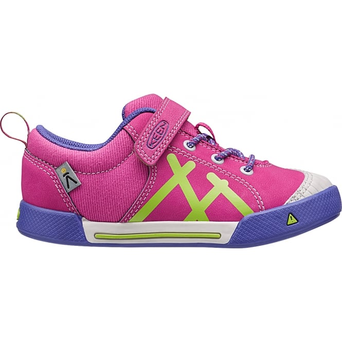 KEEN Kids Encanto Sneaker Very Berry /Jelly Bean, Light canvas & leather sneaker