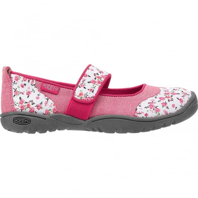 KEEN Kids Harvest MJ Barberry Flower, Mary Jane style flat ideal for all day comfort