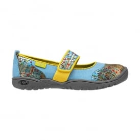 Kids Harvest MJ Swedish Blue, Mary Jane style flat ideal for all day comfort