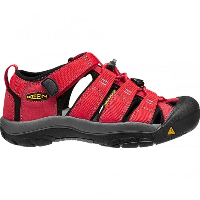 KEEN Kids Newport H2 Ribbon Red/Gargoyle, ideal for in and out of the water