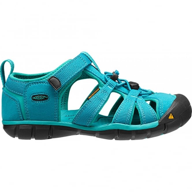 KEEN Kids Seacamp II Baltic/Caribbean Sea, a low profile lightened version of the orignal sandal