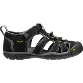 Kids Seacamp II Black/Yellow, a low profile lightened version of the original sandal