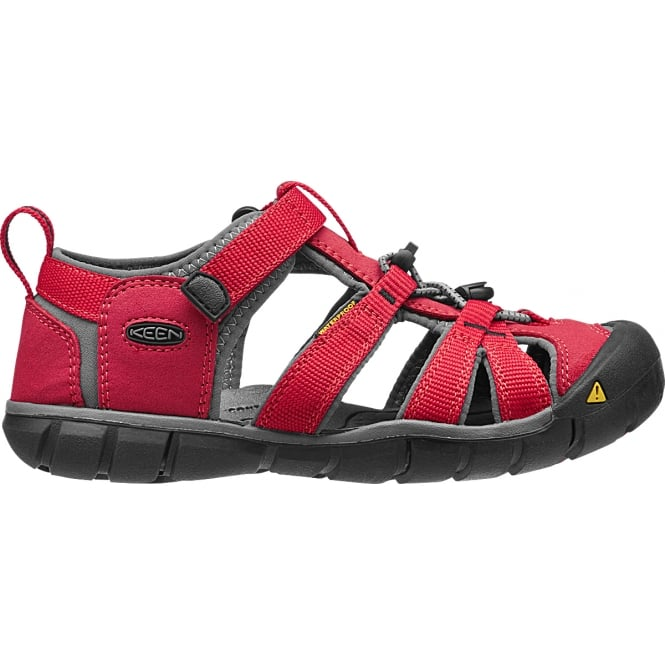 KEEN Kids Seacamp II Racing Red/Gargoyle, a low profile lightened version of the original sandal