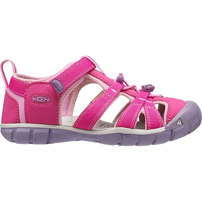 KEEN Kids Seacamp II Verry Berry/Lilac Chiffon, a low profile lightened version of the original sandal