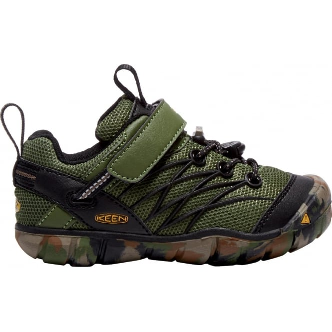 KEEN Kids/Youth Chandler CNX Crushed Bronze/Green, streamlined and flexible