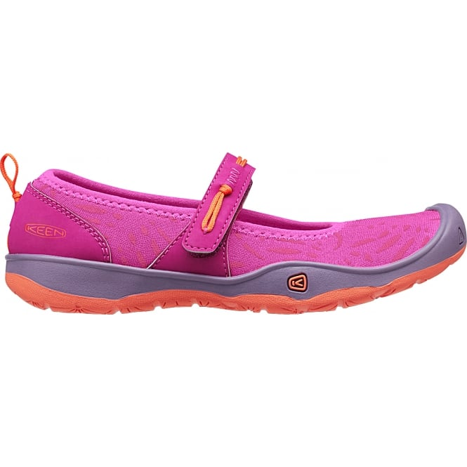 KEEN Kids/Youth Moxie Mary Jane Purple Wine/Nasturtium, Breathable and quick dry