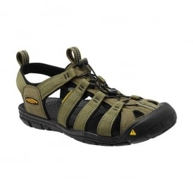 Mens Clearwater CNX Burnt Olive/Black, a low profile lightened version of the orignal sandal