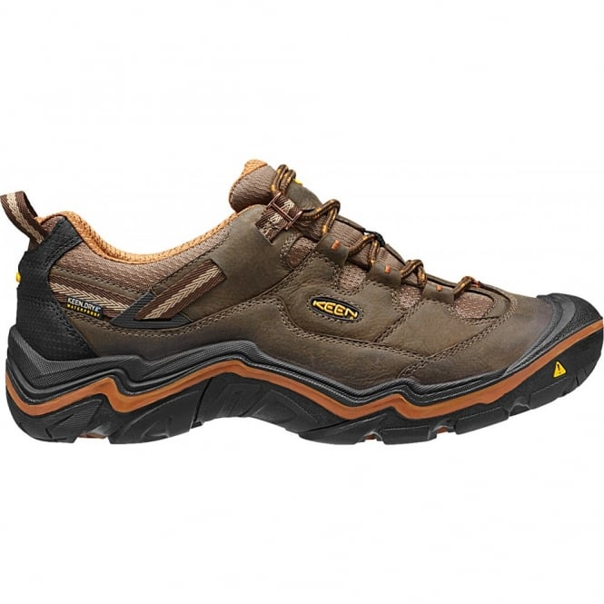 KEEN Mens Durand Low Cascade Brown/Glazed Ginger, Million step comfort!
