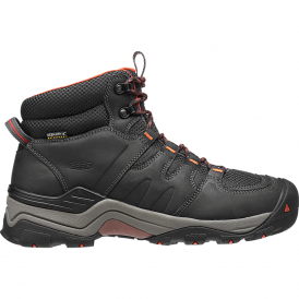 Mens Gypsum II Mid WP India Ink/Burnt Ochre, waterproof hiking boot to keep your feet dry and free of debris