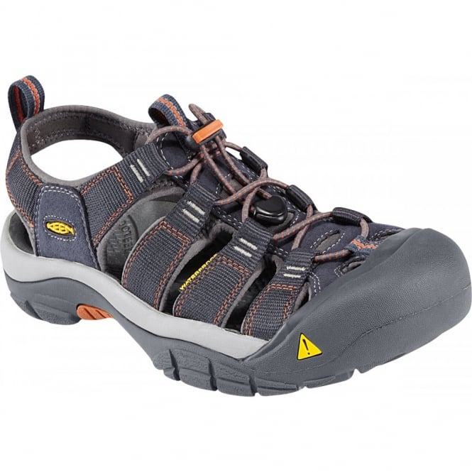 KEEN Mens Newport H2 India Ink/Rust, the original sandal with waterphobic technology