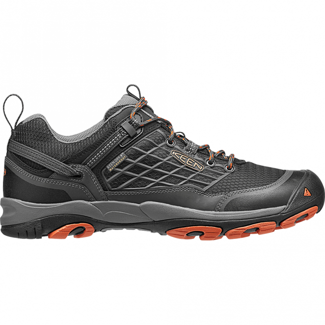 KEEN Mens Saltzman Low WP Raven/Koi, the perfect light weight waterproof hiking shoe