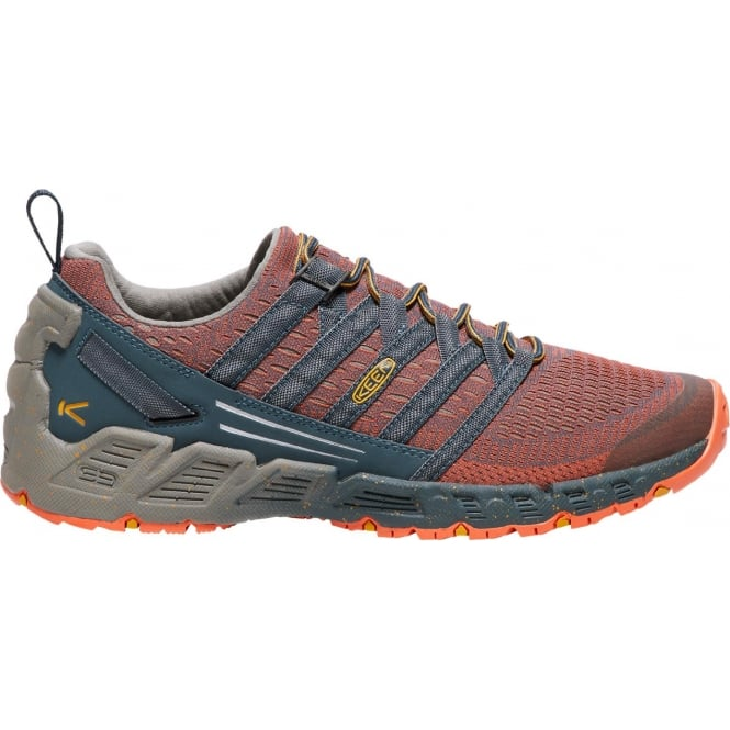 KEEN Mens Versago Midnight Navy/Nasturtium, Lightweight Breathable Mesh Upper