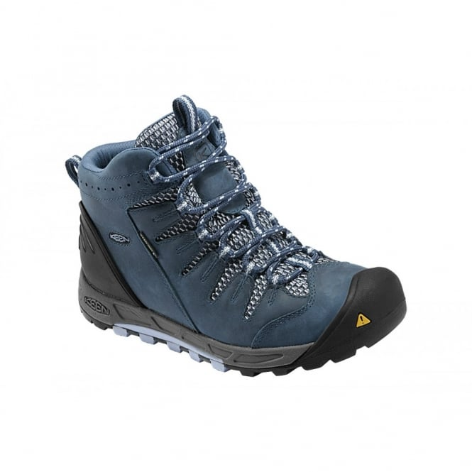 KEEN Womens Bryce Mid WP Ensign Blue/Eventide, Lightweight hiking for worldwide excursions