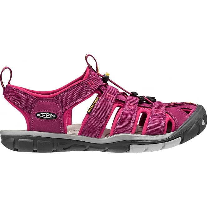 KEEN Womens Clearwater CNX Anemone/Acacia White, a low profile lightened version of the orignal sandal