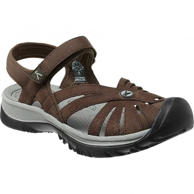 KEEN Womens Rose Sandal Cascade Brown/Neutral Grey, a washable sandal that provides comfort when you need it most!