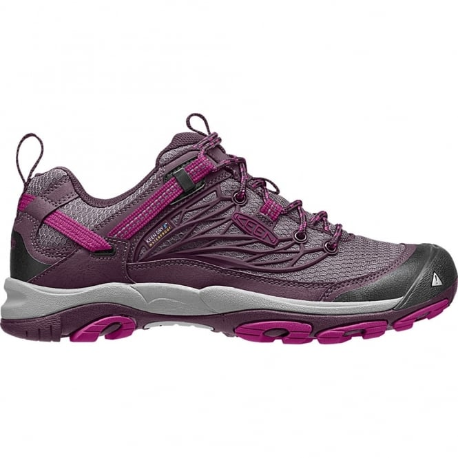 KEEN Womens Saltzman WP Low Plum/Purple Wine, the perfect waterproof walking shoe