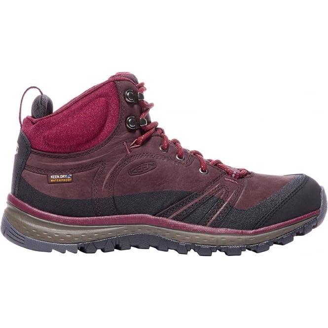 KEEN Womens Terradora Leather MID WP Wine/Rhododendron