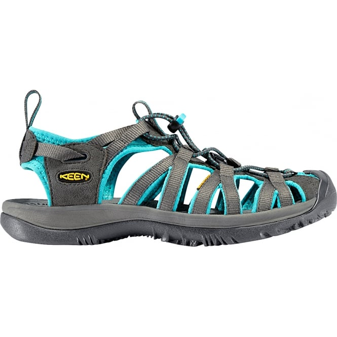 KEEN Womens Whisper Dark Shadow/Ceramic, a narrow version of the orignal sandal with toe bumper