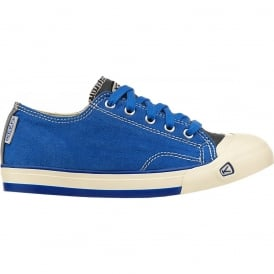 Youth Coronado Olympian Blue, a classic canvas sneaker updated style lace up with metatomical footbed