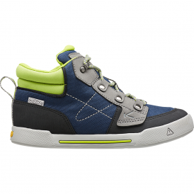 Youth Encanto Wesley High Top Dress Blues/Macaw, comfortable sneaker with flexible rubber sole