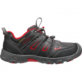Youth Oakridge Low WP Black/Tango Red, hiker-inspired easy on and off waterproof shoe