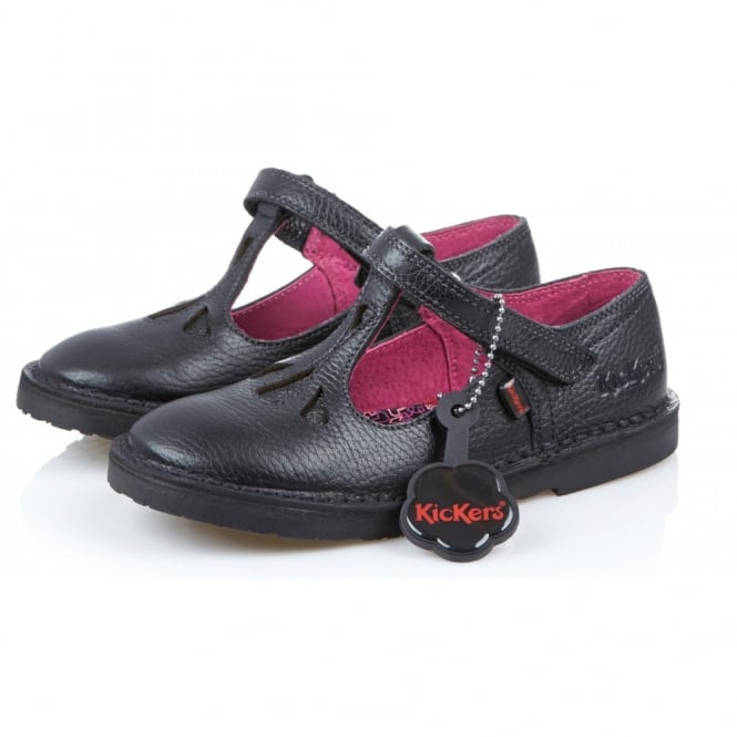 Kickers Adlar T Junior Black, leather school shoe