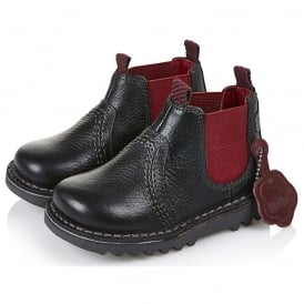 Kick Chelsea Boot Infant Black/Red 13532, the popular Chelsea boot style for the new generation