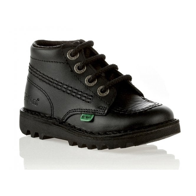 Kickers Kick Hi Junior Leather Black, Lace up boot