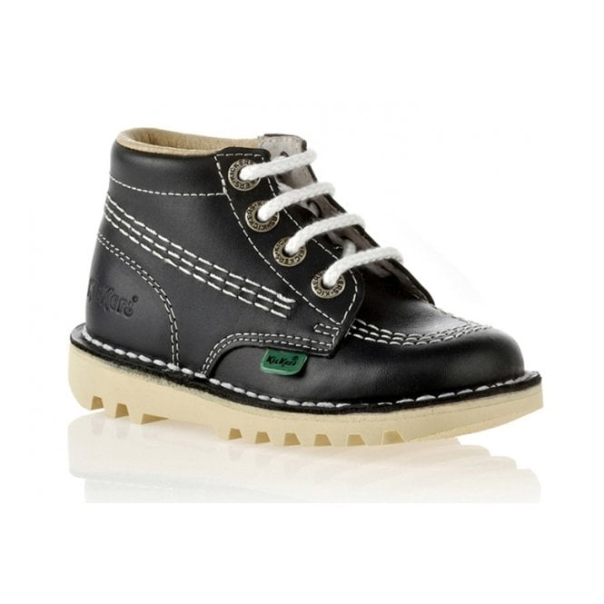Kickers Kick Hi Junior Leather Navy, Lace up boot