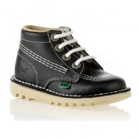Kick Hi Junior Leather Navy, Lace up boot