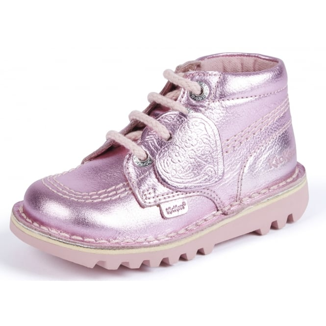 Kickers Kick Hi Light Pink Infant